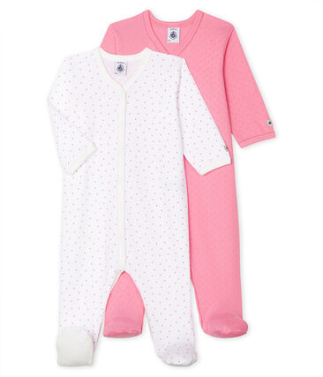 Baby Girls' Ribbed Sleepsuit - 2-Piece Set . set