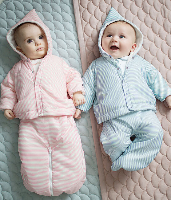 Unisex baby 3-in-1 snowsuit Fontaine blue / Marshmallow white