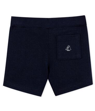 Baby boys' plain shorts Smoking blue