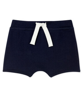 Unisex Baby's Plain Shorts Smoking blue
