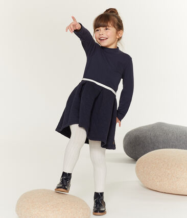 Girls' Roll-Neck Dress Smoking blue