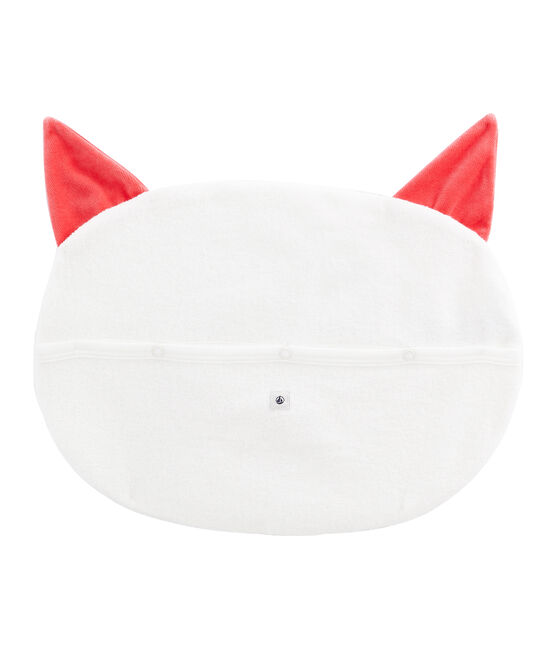 Pyjama Case in Extra Warm Brushed Terry Towelling Marshmallow white / Signal red