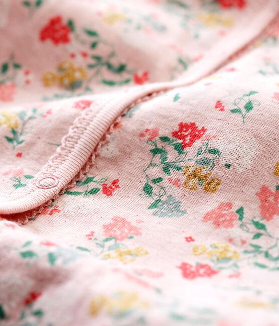 Baby Girls' Soft Footless Sleepsuit Joli pink / Multico white