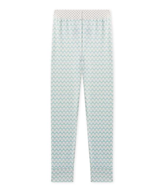 Girl's Mix & Match pyjama bottoms Lait white / Vert green