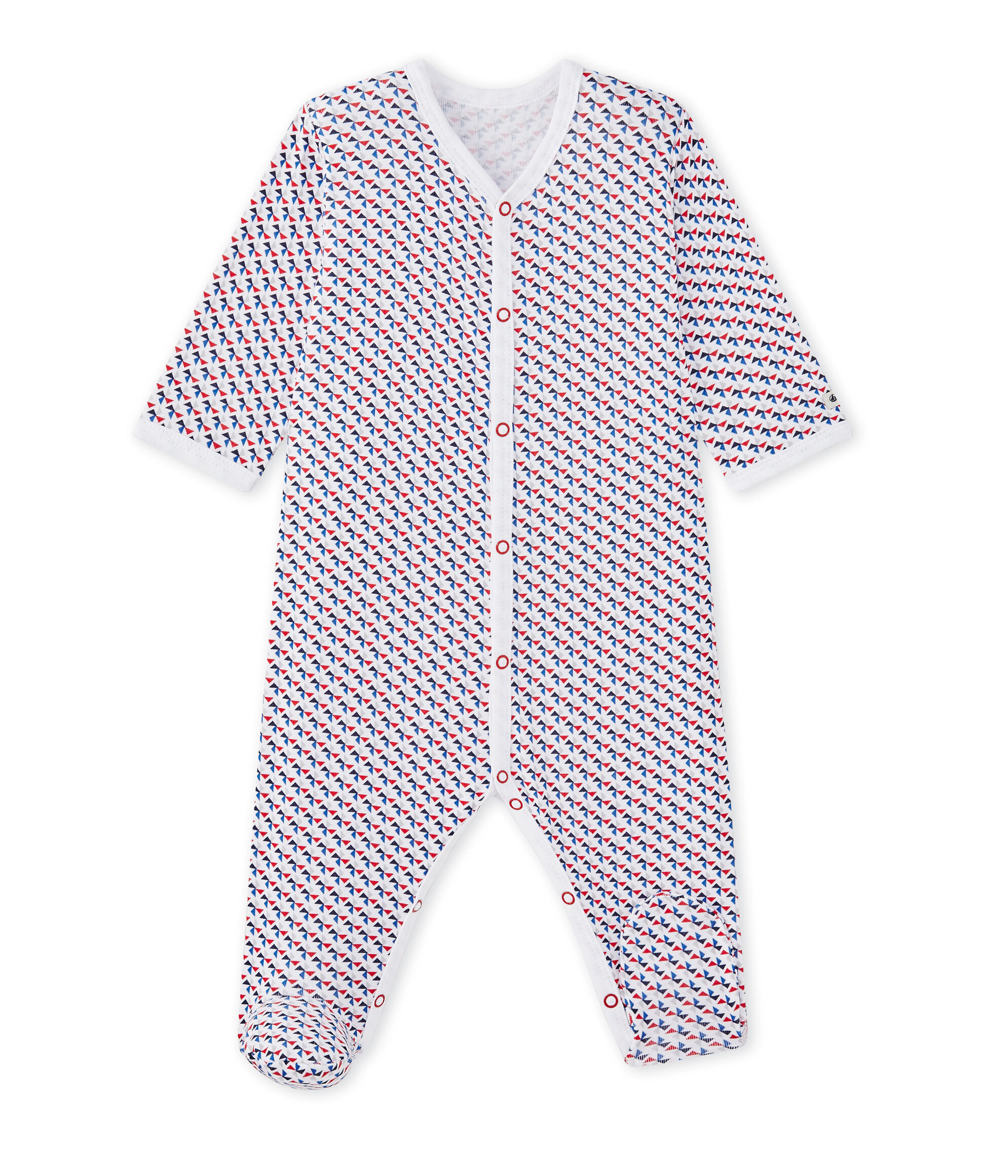 Red Cotton Petit Bateau Sleepsuit Collar 3-6 Months Baby & Toddler Clothing