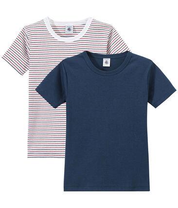 Set of 2 boys' short-sleeved t-shirts
