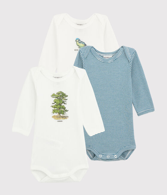 Petit Bateau x Deyrolle Baby Boys' Long-Sleeved Bodysuit - 3-Piece Set . set