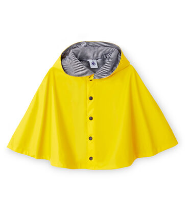 Unisex Baby's Plain Rain Cape Jaune yellow