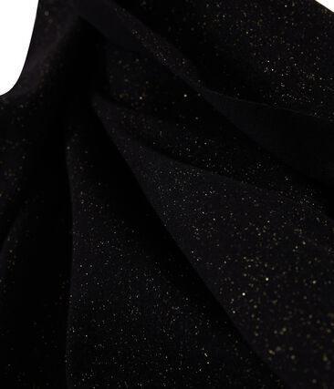Women's Shiny Scarf Noir black / Or yellow