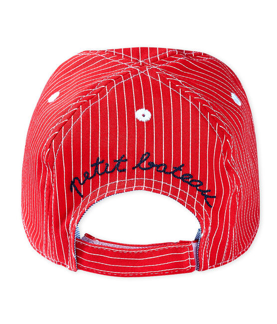 Unisex cap for babies Peps red / Marshmallow white