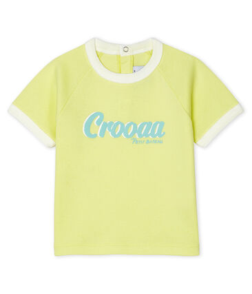 Short-sleeved T-shirt for baby boys Sunny yellow