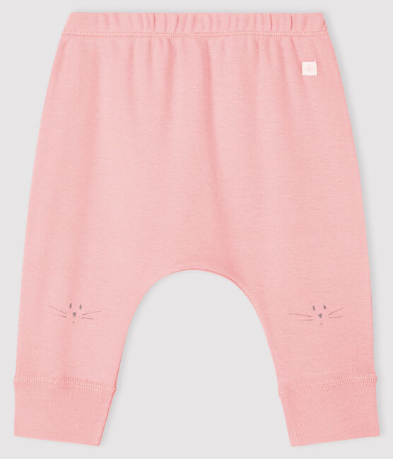 Babies' Ribbed Cat Head Leggings Charme pink
