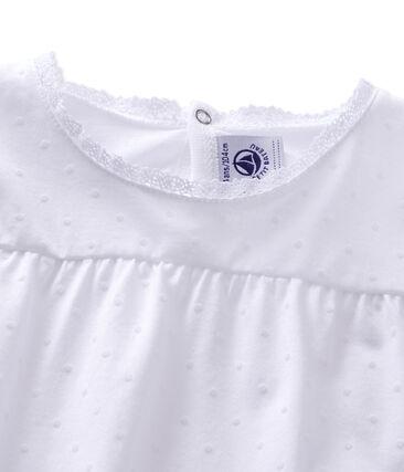 Pyjama fille à pois Ecume white