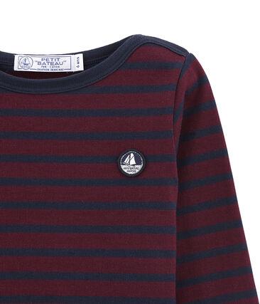 Child's iconic bretontop Ogre red / Smoking blue