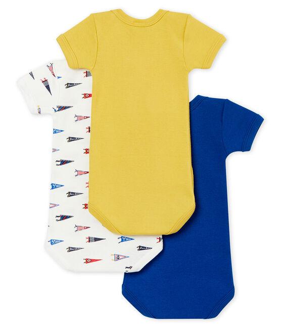 Baby boy's short sleeved body trio . set