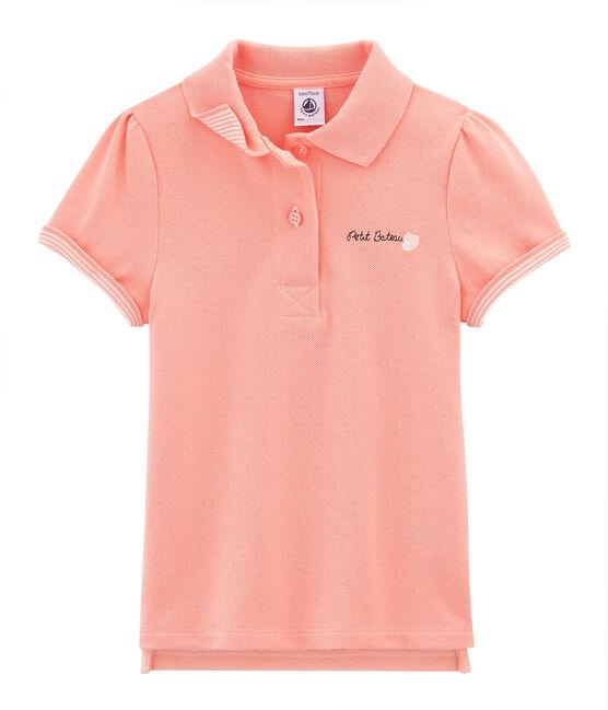 Girls' Short-sleeved Polo Shirt Rosako pink