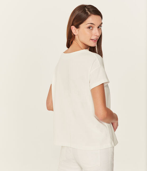 Women's short-sleeved t-shirt Marshmallow white