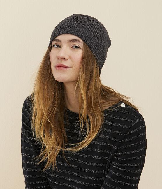 Women's shiny hat City black / Argent grey