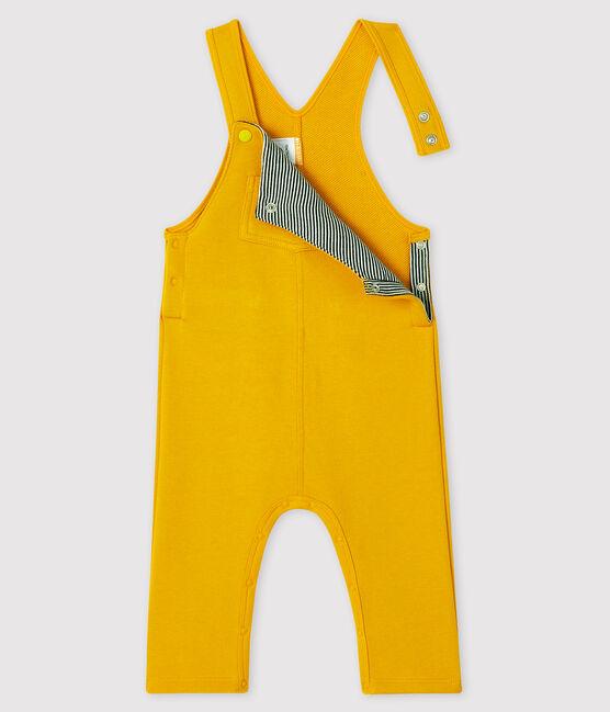 Baby boy's long dungarees Boudor yellow