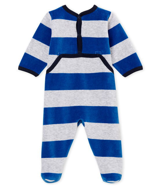 Baby boy's sleepsuit Limoges blue / Poussiere grey