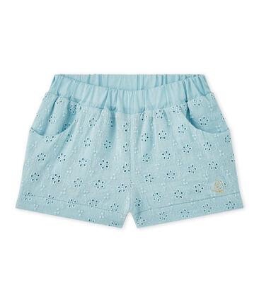 Baby girl's eyelet shorts