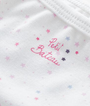 Girls' pants Ecume white / Bonbec pink