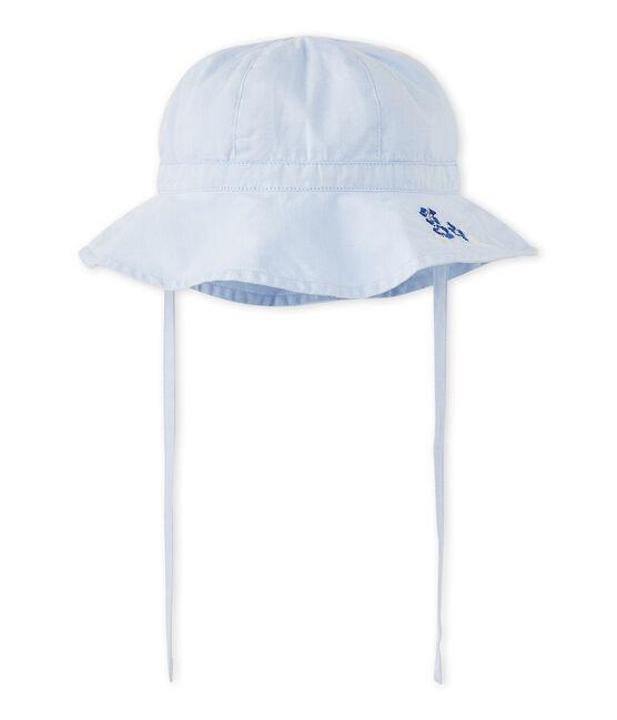 Baby girl's plain hat Bleu blue
