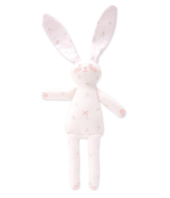 Doudou lapin Vienne pink / Ecume white