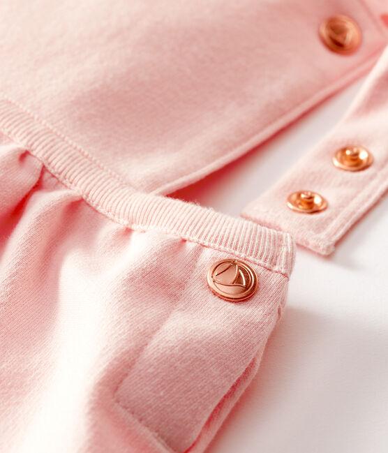 Baby Girls' Short Fleece Dungarees Minois pink