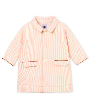 Baby girls' striped coat