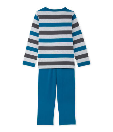 Boys' pyjamas in striped jersey