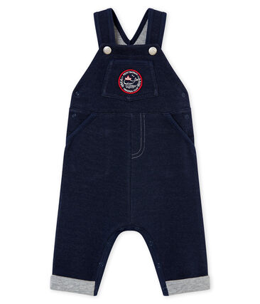 Baby boy's jersey dungarees