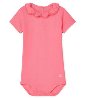 Baby Girls' Dress with Ruff Cupcake pink