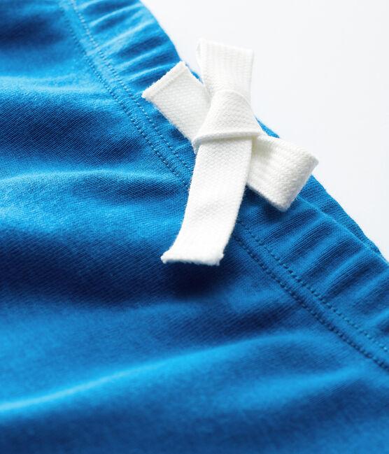 Babies' Unisex Plain Cotton Shorts Mykonos blue