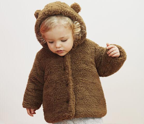 Baby Girls' Sherpa Coat Brindille brown