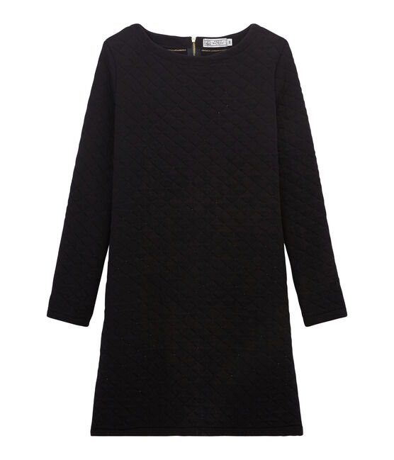 Women's Tube-Knit Shift Dress Noir black / Dore yellow