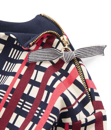 Women's Checked Sailor Top Coquille beige / Multico white