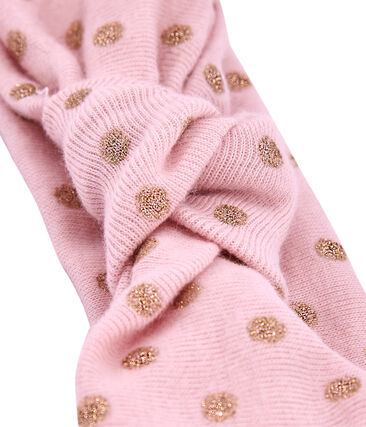 Polka dot headband Joli pink / Dore yellow