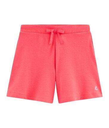 Girls' Knit Bermuda Shorts Groseiller pink