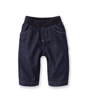 Baby lined denim trousers Jean blue