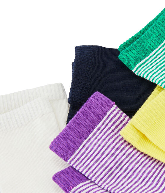 Set of 5 pairs of socks . set