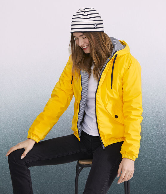 Women's/Men's icon Breton-stripe hat Coquille beige / Smoking blue