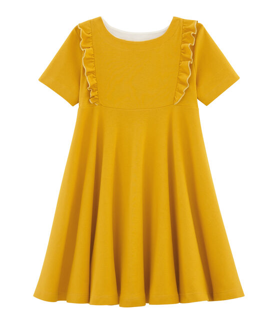 Girls' Short-Sleeved Dress Boudor yellow