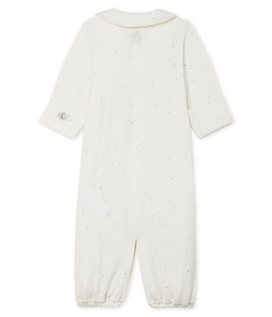 Babies' Jumpsuit/Sleeping Bag in Tube Knit Marshmallow white / Multico Cn white