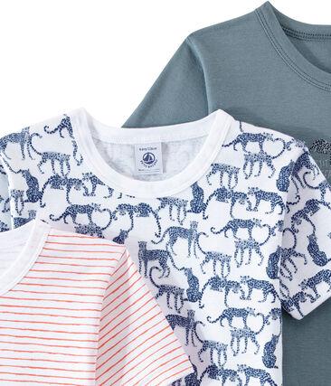 Set of 3 boys' short-sleeved t-shirts . set