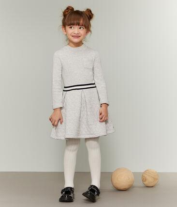 Girls' Roll-Neck Dress Beluga grey