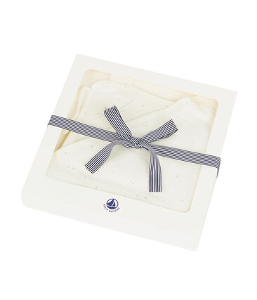 Unisex baby square bath towel and comforter
