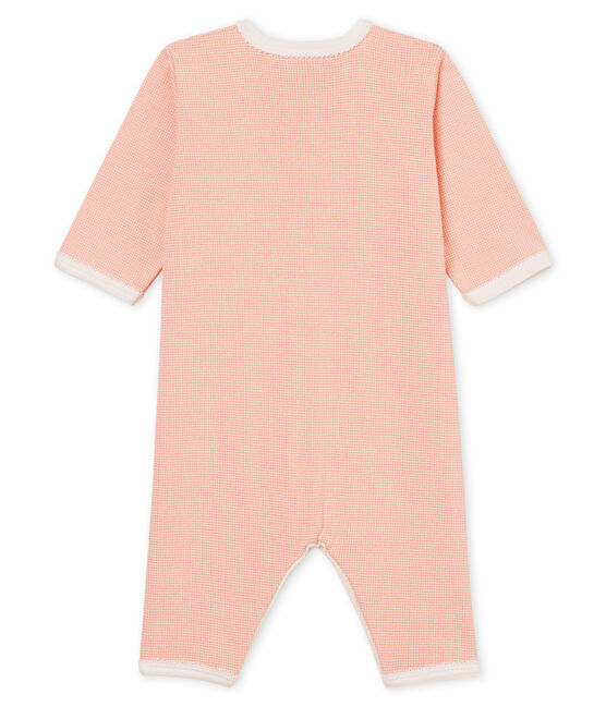Baby Girls' Sleepsuit Rosako pink / Marshmallow Cn white