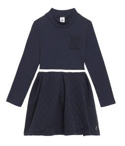 Girls' Roll-Neck Dress Smoking blue