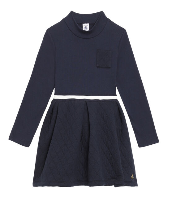 Girls' Roll-Neck Dress SMOKING